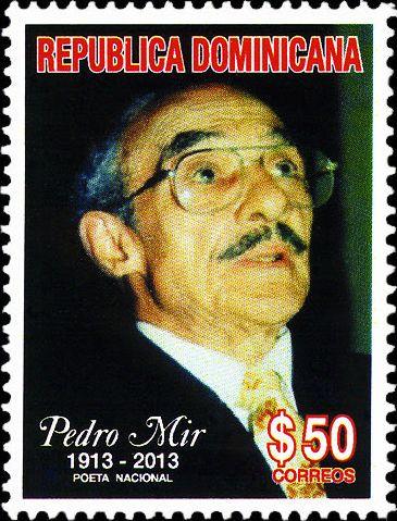 sello de pedro mir, centenario de nacimiento